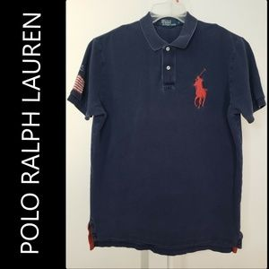 Polo Ralph Men Short Sleeve Polo Shirt Size Large
